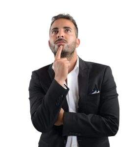 42261381 - businessman thinking about what decision to take